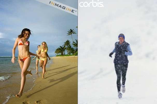 Correr na praia eh o mesmo que correr na neve???
